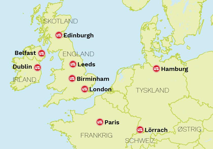 Kart over Europa